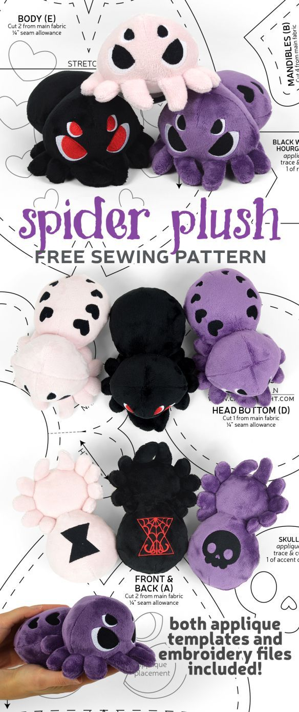 Free Pattern Friday! Spider Plush | Choly Knight