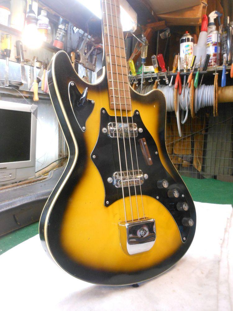 Rare 1960 S Vintage Kay Bass Guitar Harmony Silvertone National Ebay Yamaha Guitar Guitar Bass Guitar