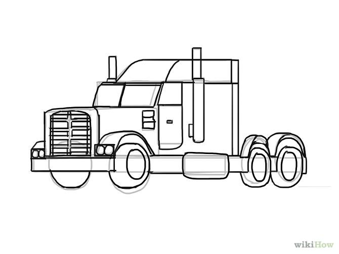 Draw A Truck With Images Drawings Art Drawings For Kids Easy
