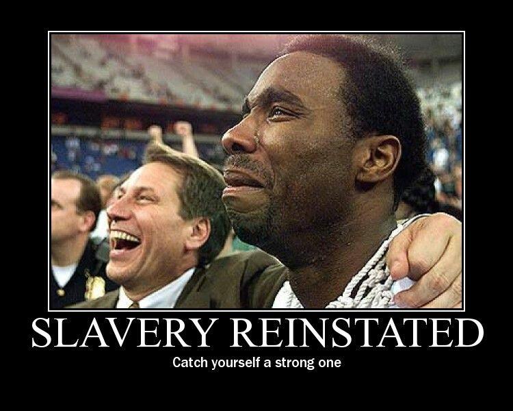 Slavery reinstated