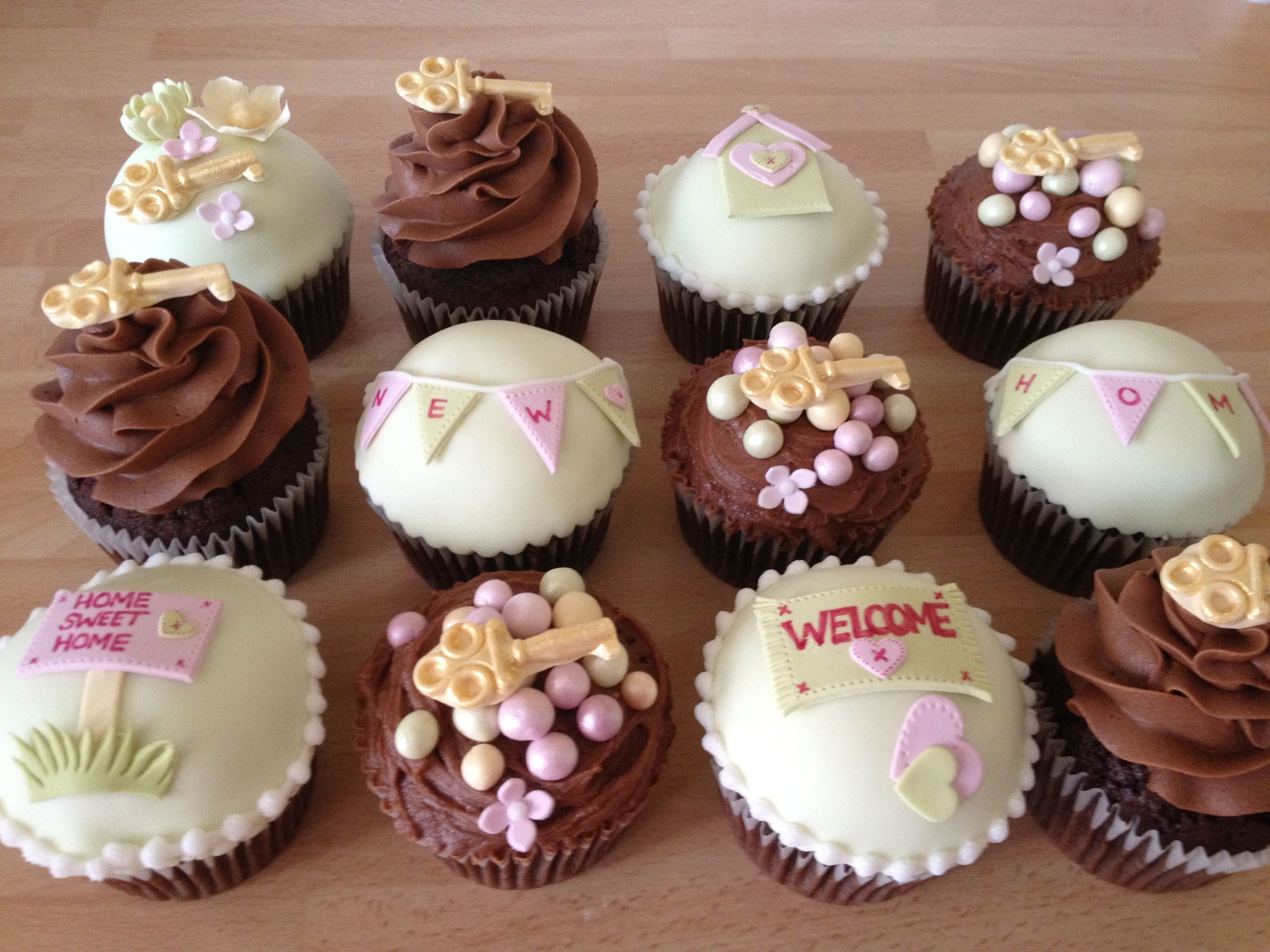 Housewarming Cupcakes. Cupcake IdeasCupcake ToppersDecorated CupcakesThemed  CupcakesHouse ...