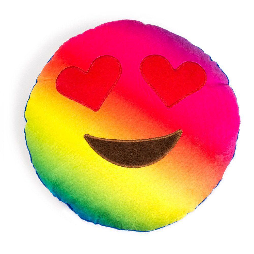 Pillows Rainbow Heart Eyes Emoji Pillow Emoji Pillows