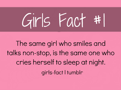 girl facts tumblr | ~E V E R Y T H I N G~G I R L Y~ | Pinterest ...