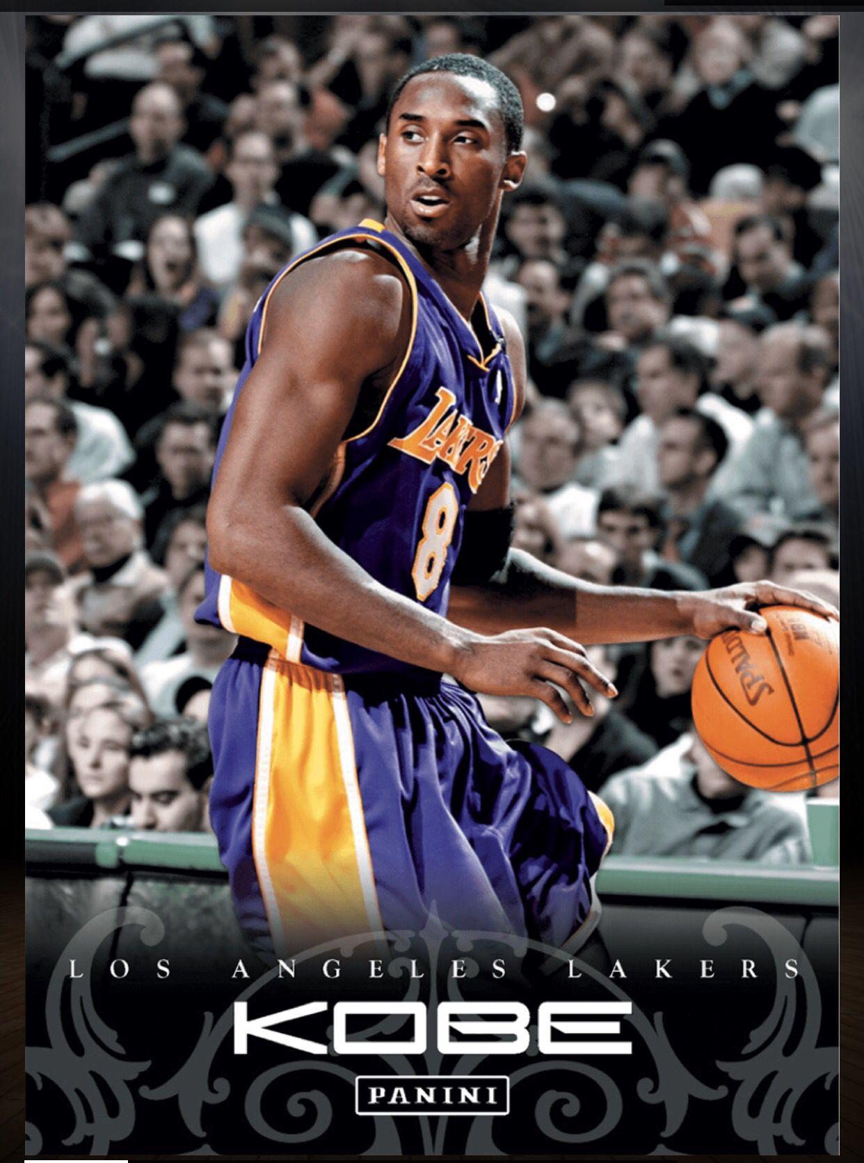 Kobe Bryant Los Angeles Lakers 86 Kobe Anthology Card 2015 2016 Panini Dunk Kobe Bryant Black Mamba Kobe Bryant Kobe Bryant Nba