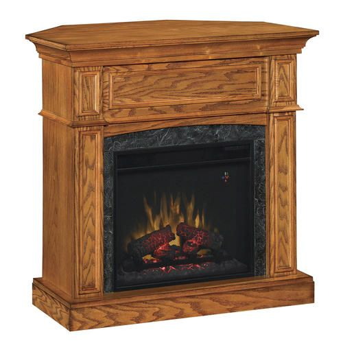 thompson electric fireplace set with corner extension at menards rh pinterest com