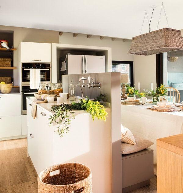 Cocinas Abiertas Al Salon Ideas Para Cocinas Integradas Al Salon Decoracion De Cocina Cocinas Abiertas Cocina Abierta Al Salon