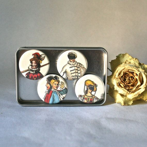 Italian Opera Characters On Ceramic Magnets For Home