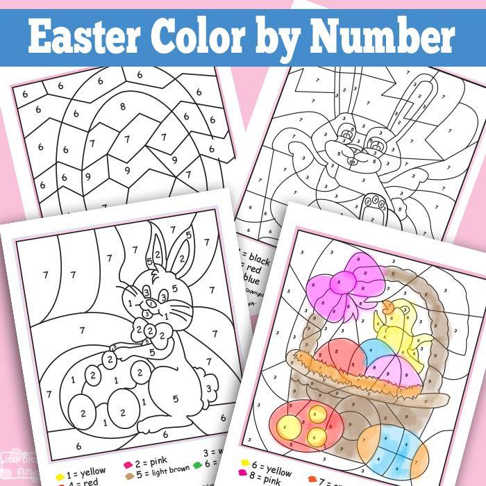 Easter Color By Numbers Worksheets | Semana santa, Imprimibles y Santos