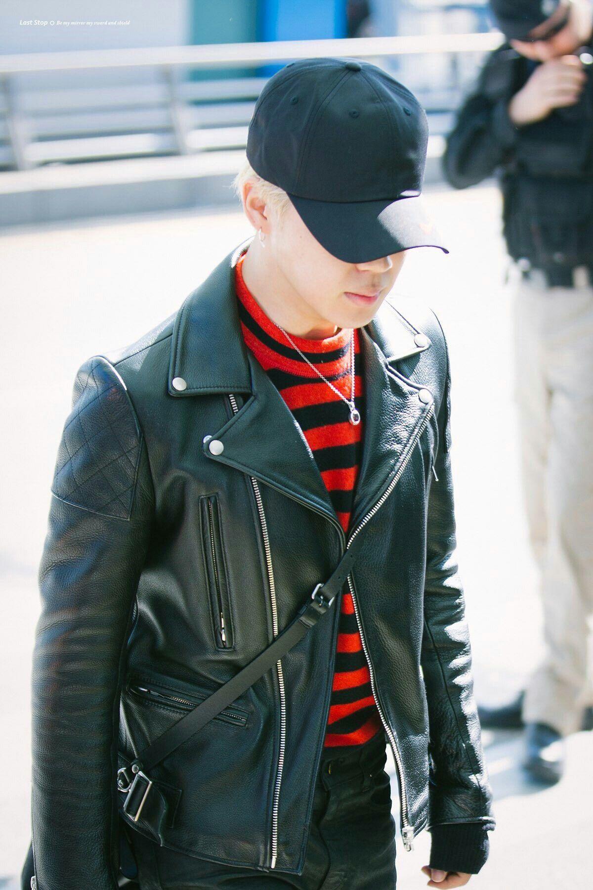 Park Jimin Bts Bts Leather Jacket Fashion Hat Fashion [ 1800 x 1200 Pixel ]