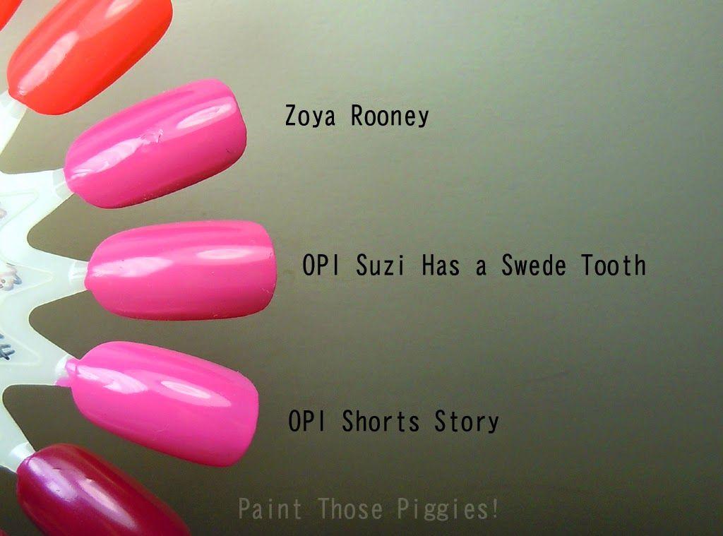 Paint Those Piggies! Zoya | Rooney v OPI | Suzi Has A Swede Tooth v ...