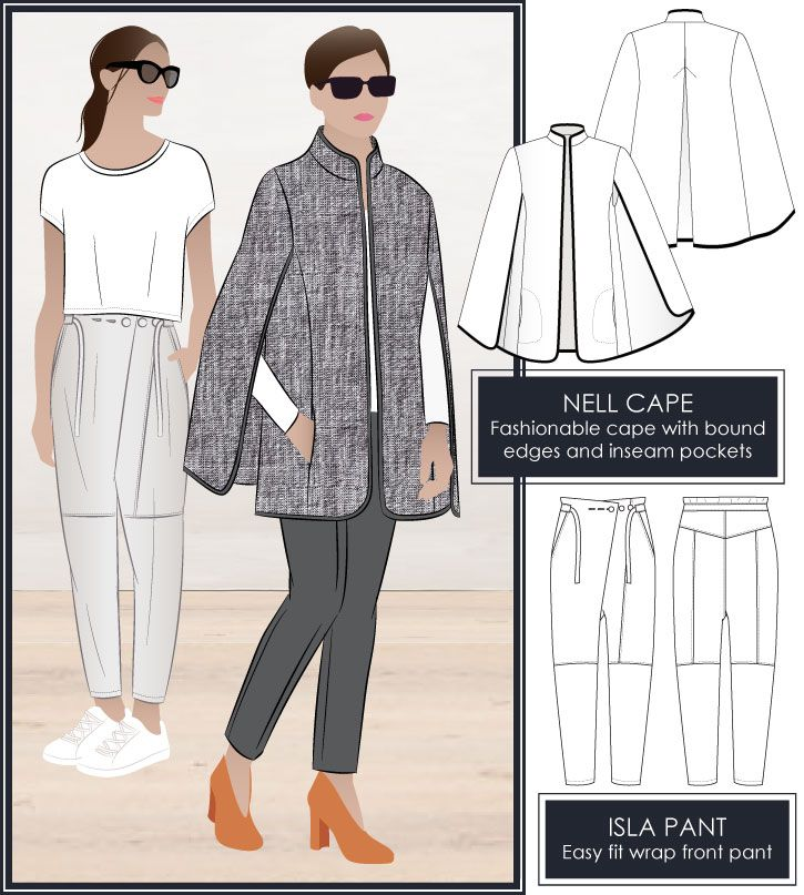 Isla pant and Nell Cape | idea for office unifrom | Pinterest ...