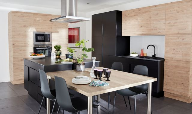 Cuisine Ilot Table Recherche Google Meuble Cuisine Table Cuisine Ikea Cuisine Ouverte