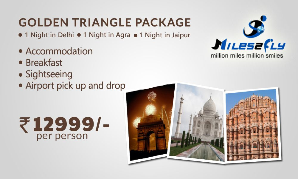 Enjoy the exclusive golden triangle tour package offer by