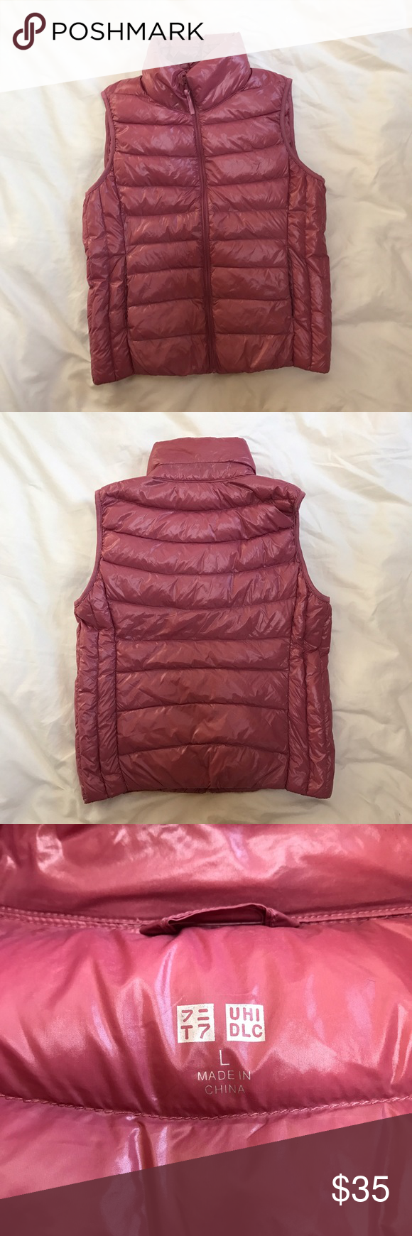 Uniqlo Pink Down Puffer Vest A very cute Uniqlo pink Down