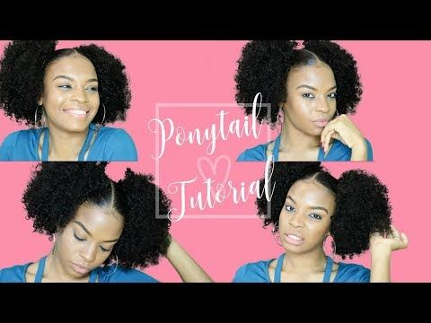 Just In 2 Curly Ponytails Puff Balls Pigtail Hairstyle Easy Tutorial Https Youtube Co Pigtail Hairstyles Natural Hair Styles For Black Women Hair Tutorial