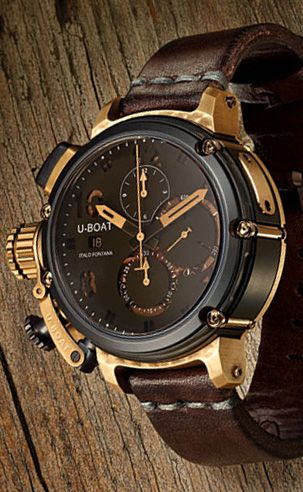U Boat U 51 Bronze 6496 Watch Watchismo Is An Authorized U Boat Dealer Watches For Men Stylish Watches Watches Jewelry