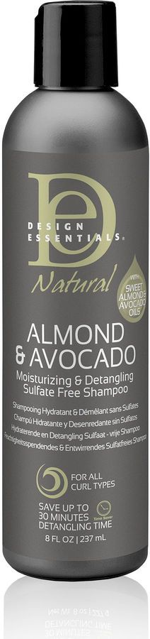 Design Essentials Natural Almond And Avocado Shampoo 8 Oz