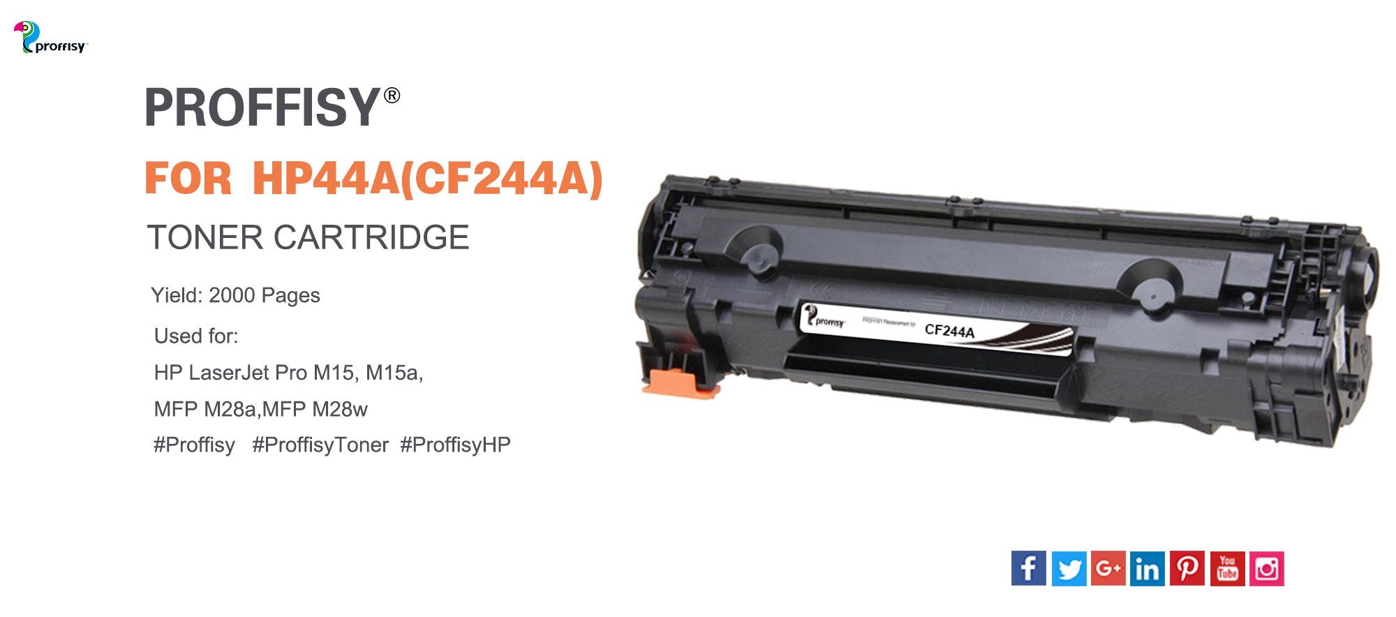 Proffisy New Compatible For Hp 44a Cf244a Hp 48a Cf248a Toner Cartridge Can Be Printed Up To 2000 Yield Pages Give Y