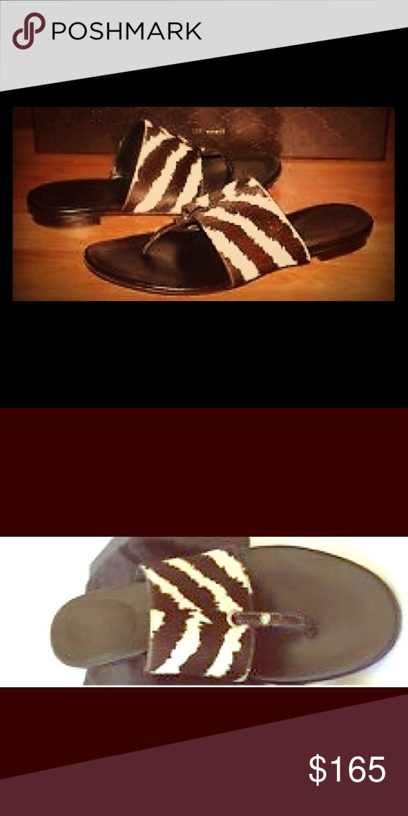3179fafd97c1 Gucci Zebra Stripe Flip Flops Light Ware Gucci Shoes Sandals Striped Flip  Flops