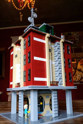 Ghostbusters Hq Alternate Build Lego Buildings Pinterest