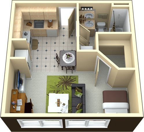 Apartment Floor Plan how about a barn door instead for the bathroom