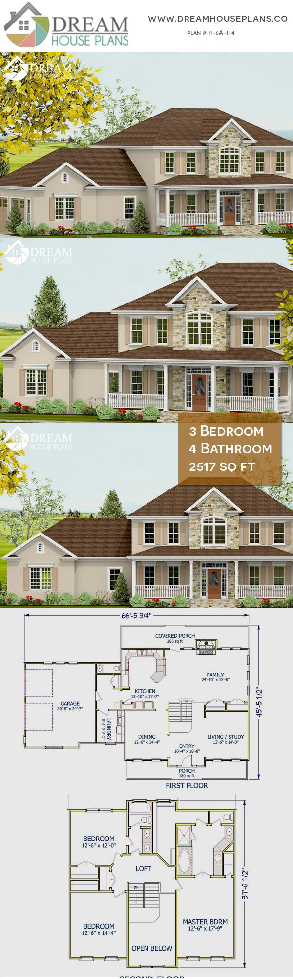 Dream house plans popular colonial bedroom sq ft house