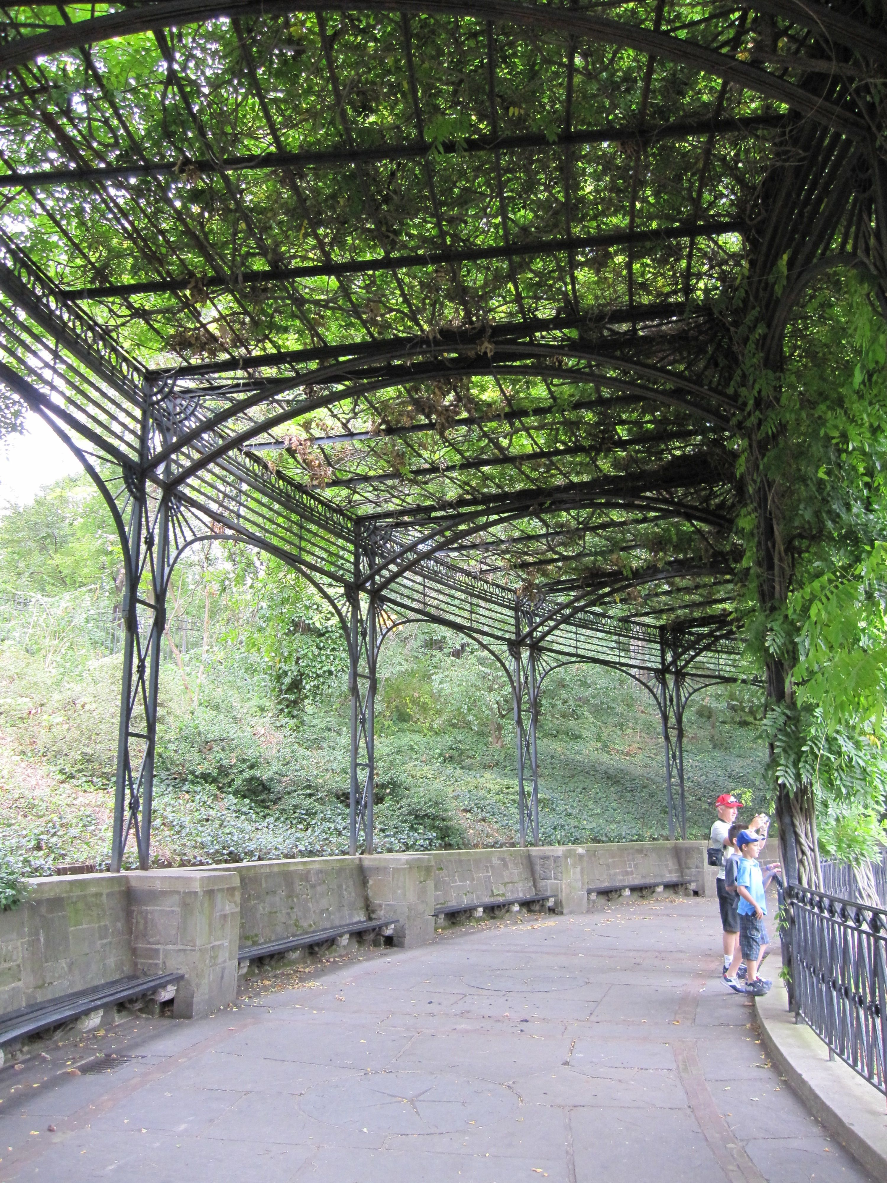 covered garden walkway Covered walkway at the Conservatory Garden #nyc   New York