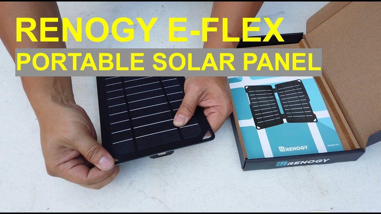 Renogy E Flex Portable Solar Panel 5 Watts With Usb Plug Unboxing An Portable Solar Panels Flexible Solar Panels Solar Panels