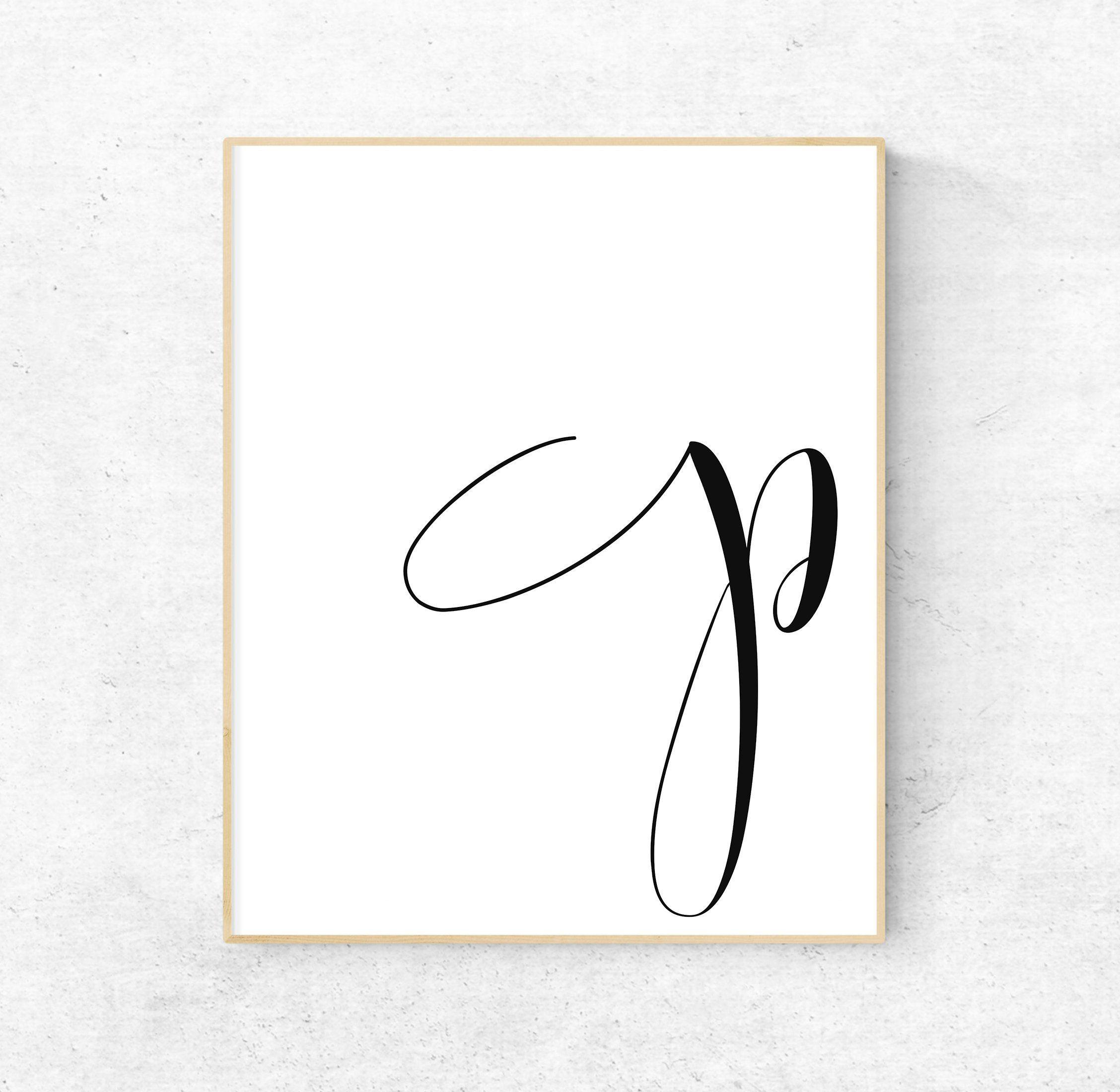 Printable Letter P Art Print