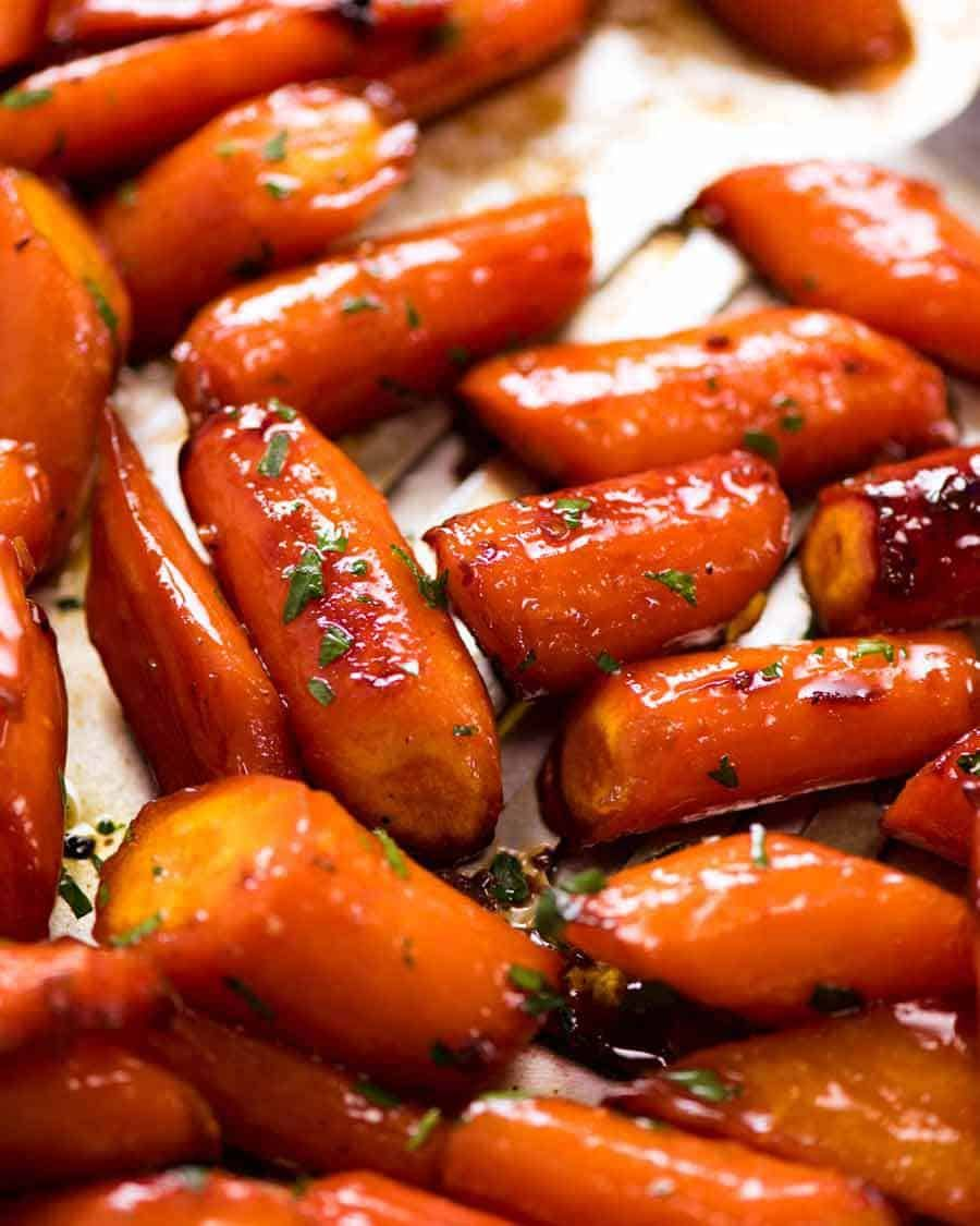 Brown Sugar Glazed Carrots #foodsides
