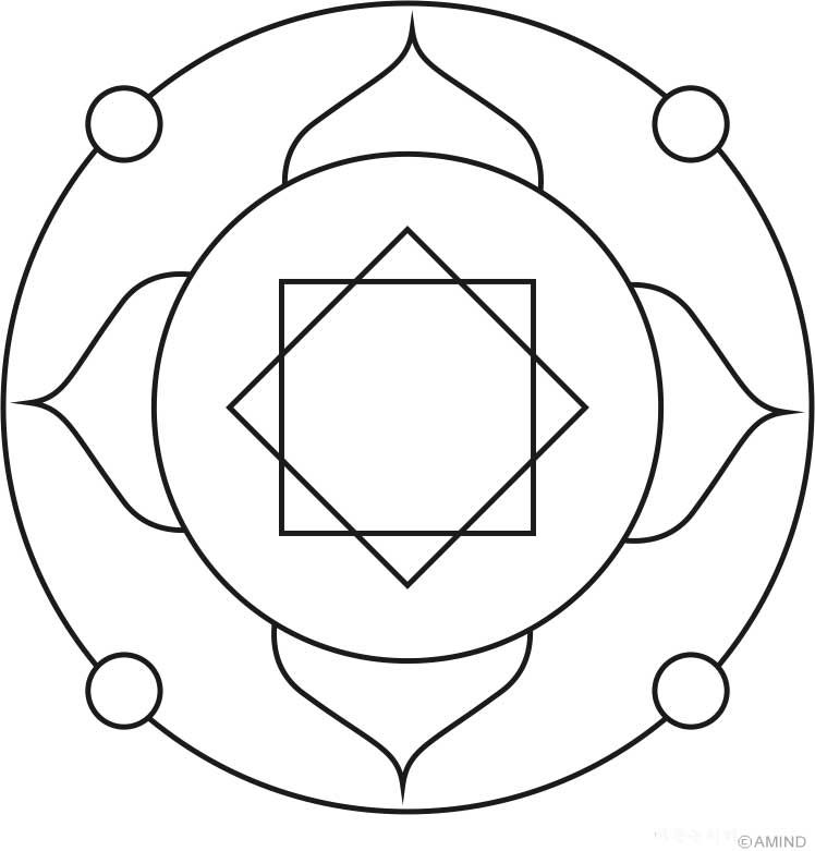 Mandala Coloring Pages Easy Mandelas For Cd Suncatchers Mandalas To Color Easy