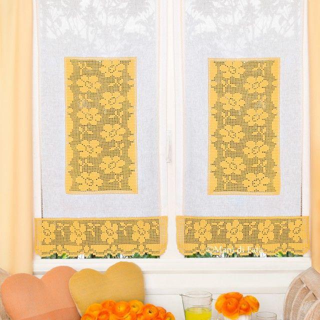 Tenda schema  Mani di Fata  Uncinetto Filet  Filete Cortinas e Croch
