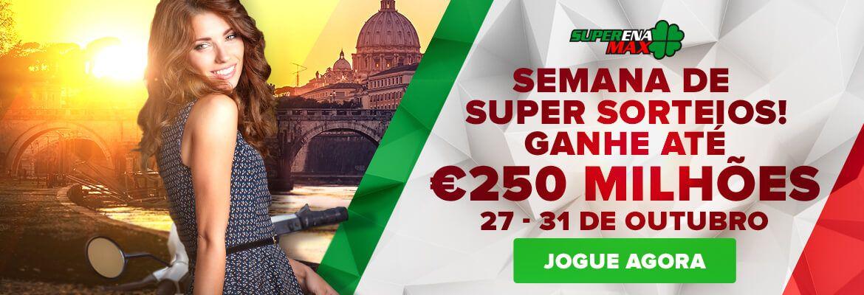 Semana de super sorteios da SuperenaMax, de 27 a 31 de outubro de 2015 - oportunidades incríveis de ficar #rico!