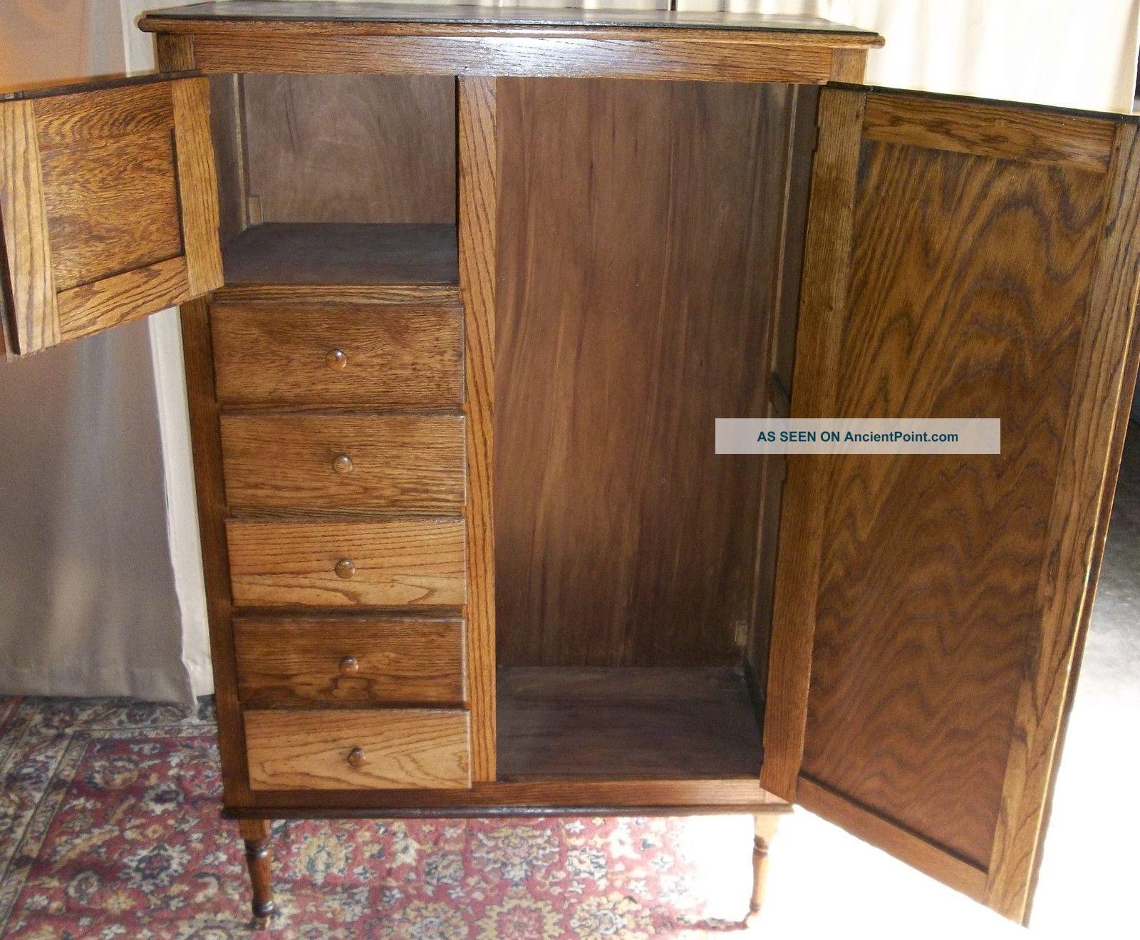 Antique Oak Chifferobe Wardrobe