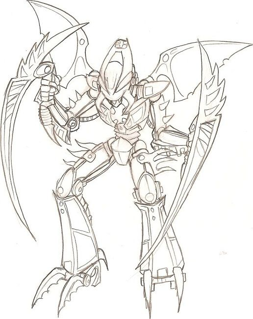 bionicle coloring pages # 48