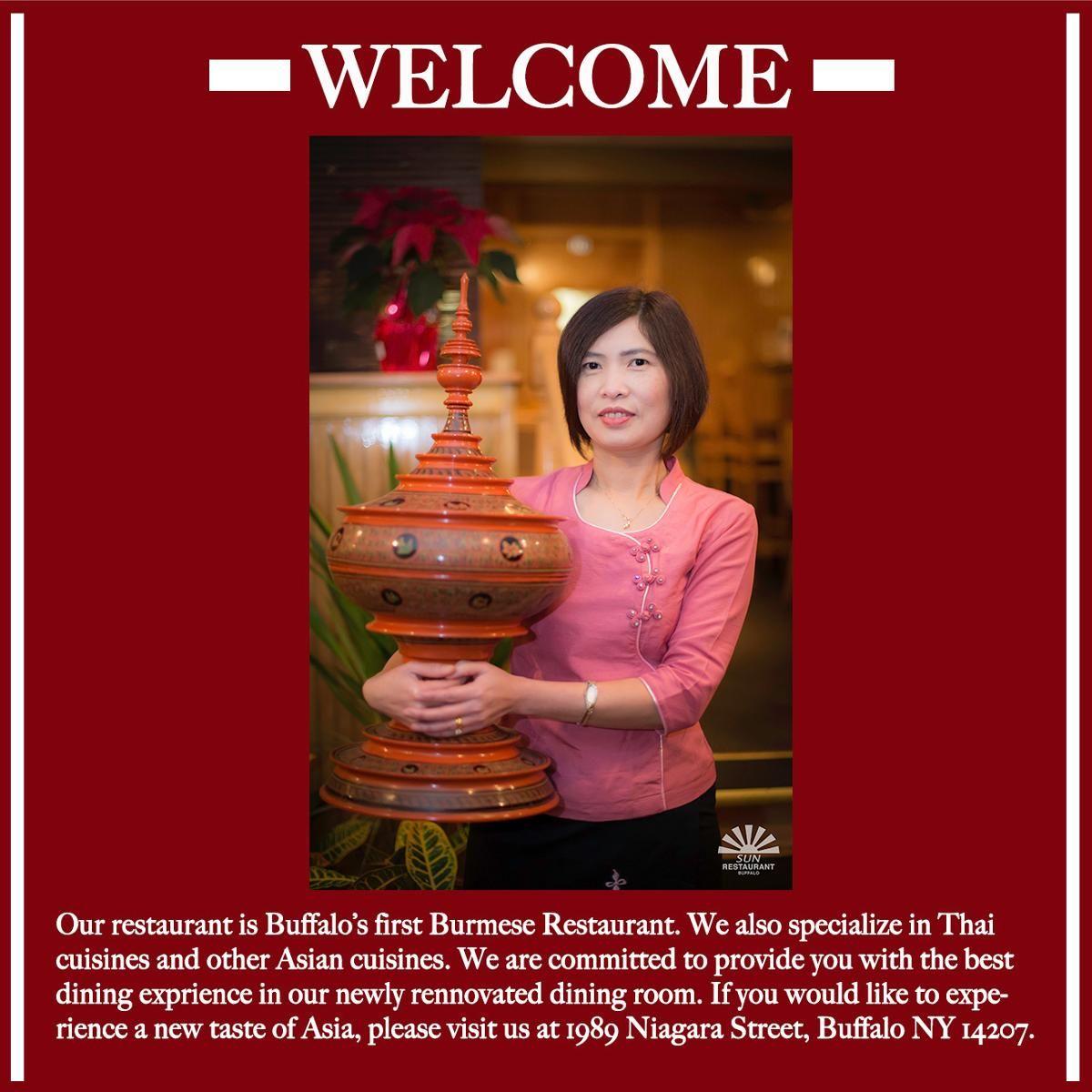 Welcome To Sun Restaurant Sun Restaurant Buffalo Recipe Sushi Restaurants Asian Restaurants