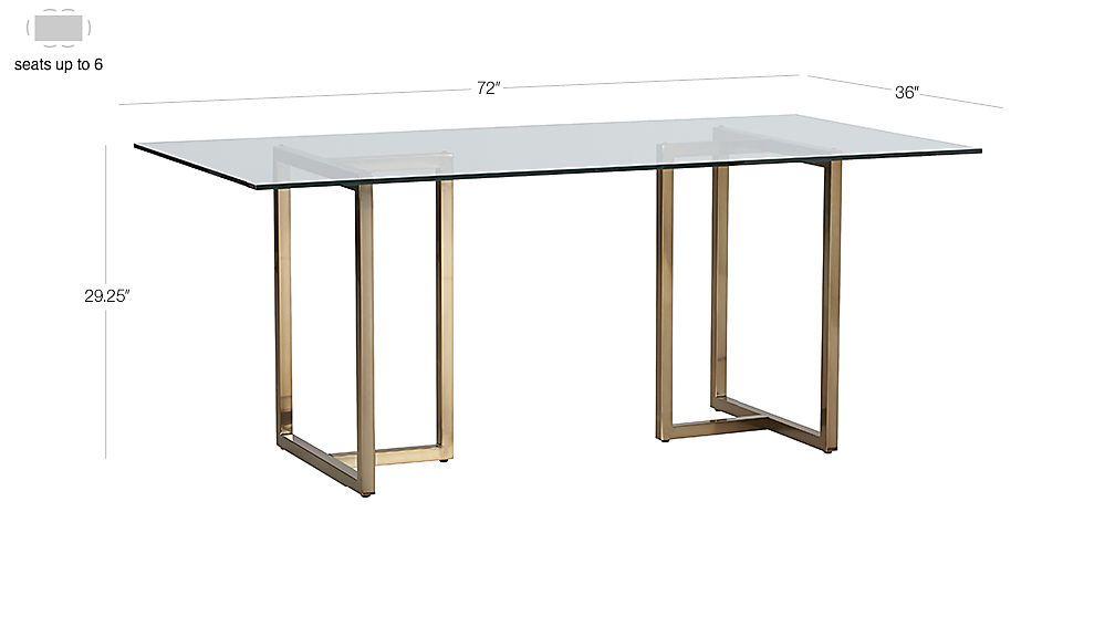 Silverado 72 Chrome Dining Table Reviews Cb2 In 2020 Glass