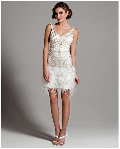 f21a065e6a Sue Wong Ivory Open Back Reception Dress with Feather Bottom ...