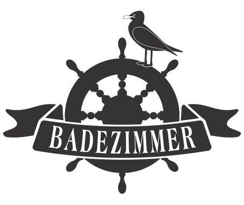 Badezimmer, Seagull Wall Sticker East Urban Home Size: 100 cm H x 130 cm W, Colour: Black