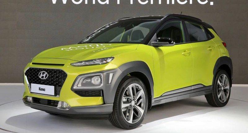 Hyundai Kona EV Displayed At Auto Expo 2018 Hyundai