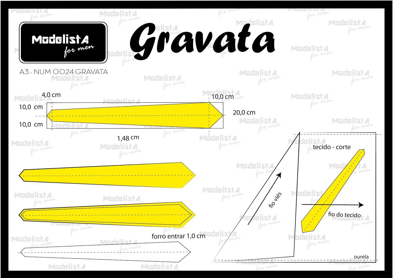 A3 NUMo 0024 GRAVATA | Men | Pinterest | Sewing, Sewing patterns y ...