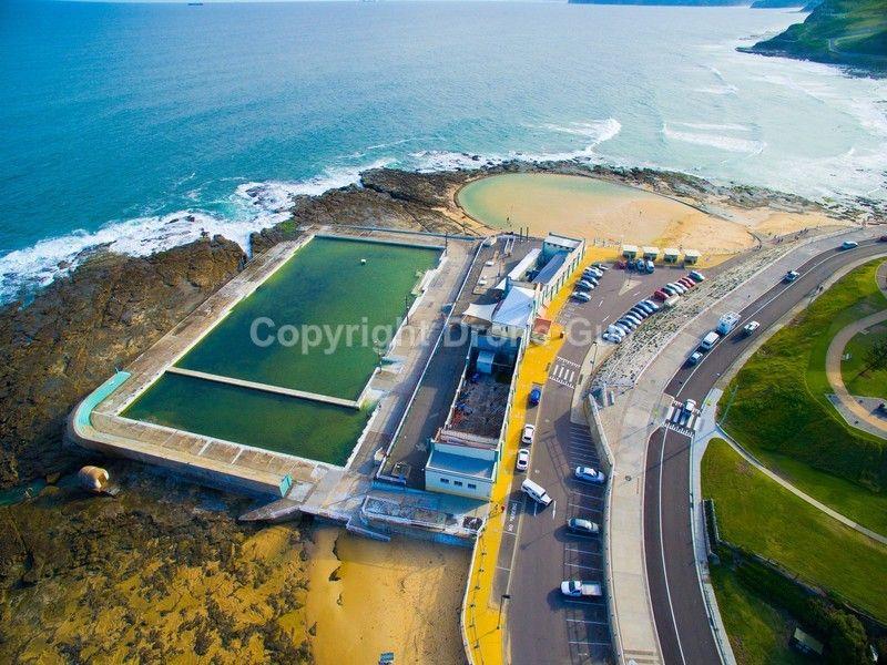 Newcastle foreshore aerial photo newcastle nsw australia - Lakeside swimming pool raymond terrace ...