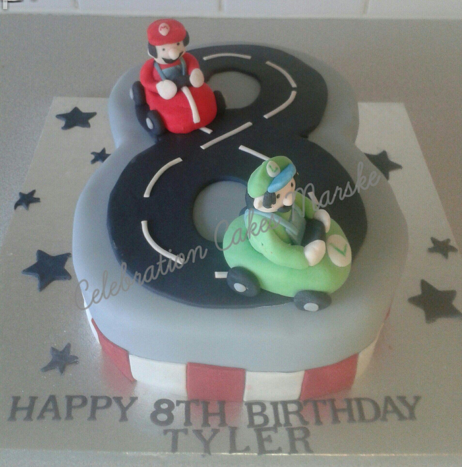 No 8 Mario Racing Birthday Cake Celebration Cakes Marske