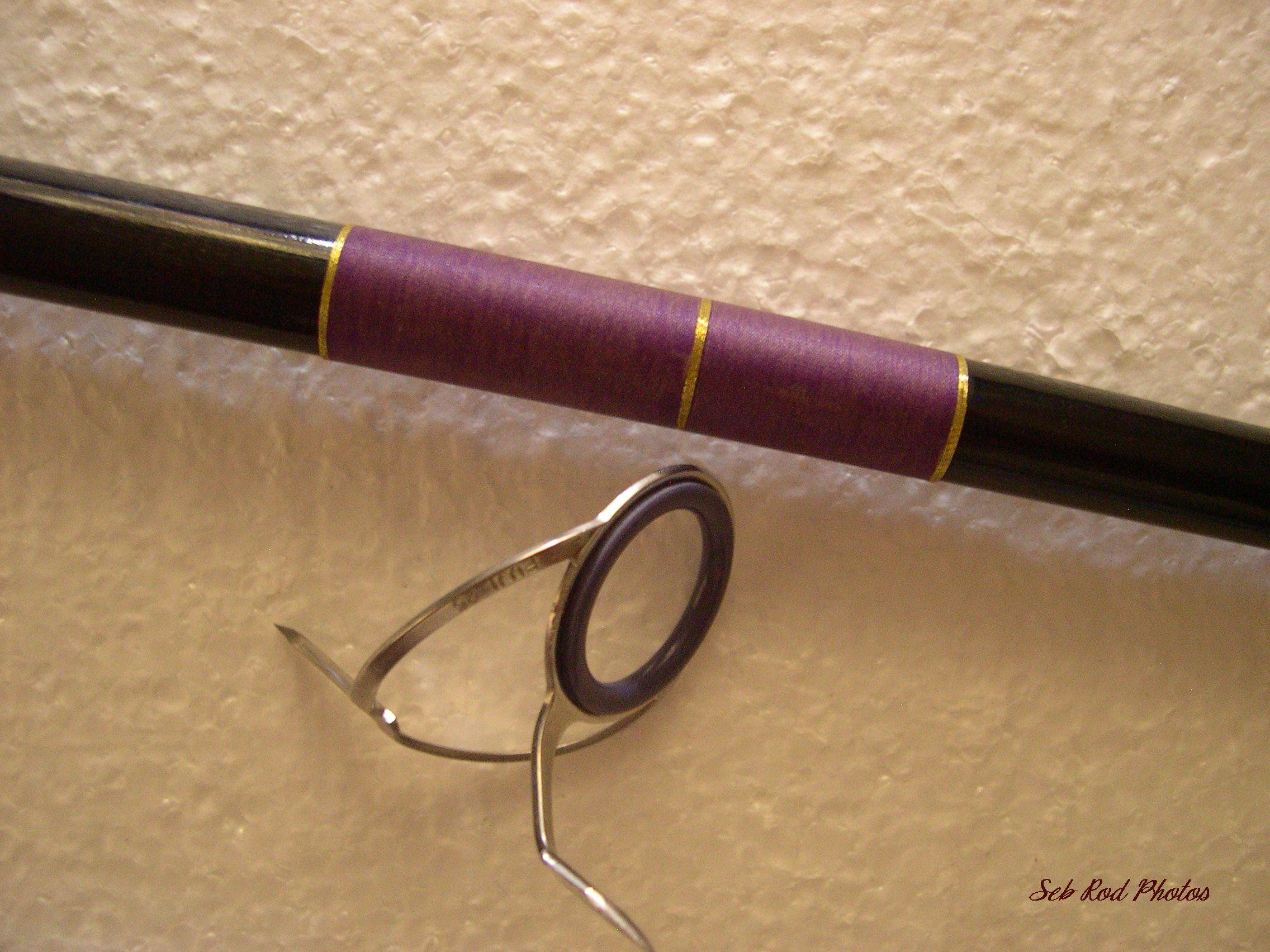 Underwrap w gold trim plus fuji guide handmade rod for Golden fishing rod