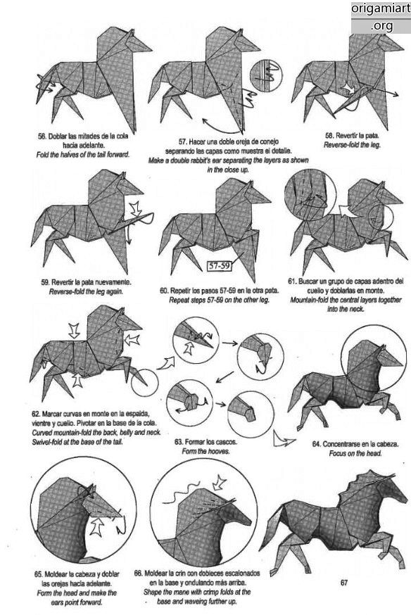 the complex origami running horse origami diy graphic origami rh pinterest com complex origami cat diagrams complex origami flower diagrams
