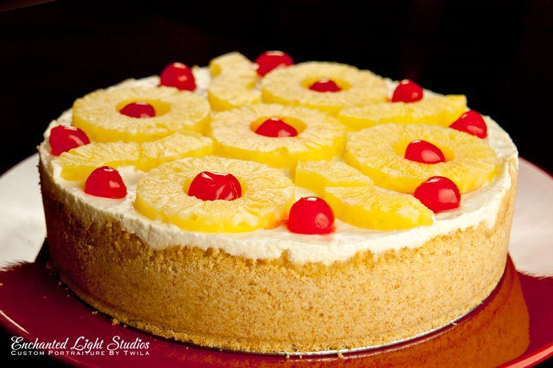 Pineapple Chiffon Cheesecake whole pull back