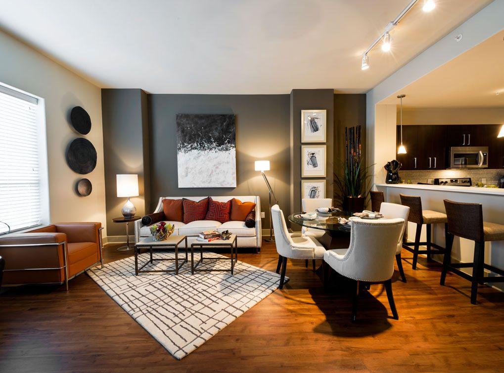 Model Living And Dining Room At Amli River Oaks Interior Design