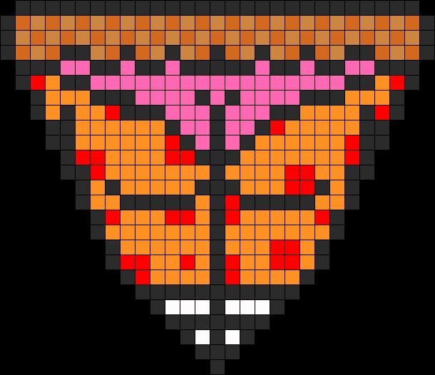 Minecraft Pixel Art Panda Pizza Butt Perler Bead Pattern Sprite