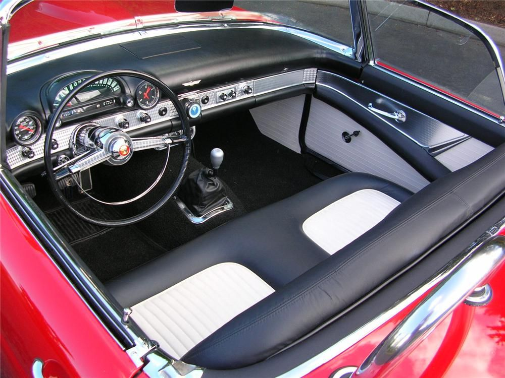 Red and black interior 1955 T Bird - Google Search