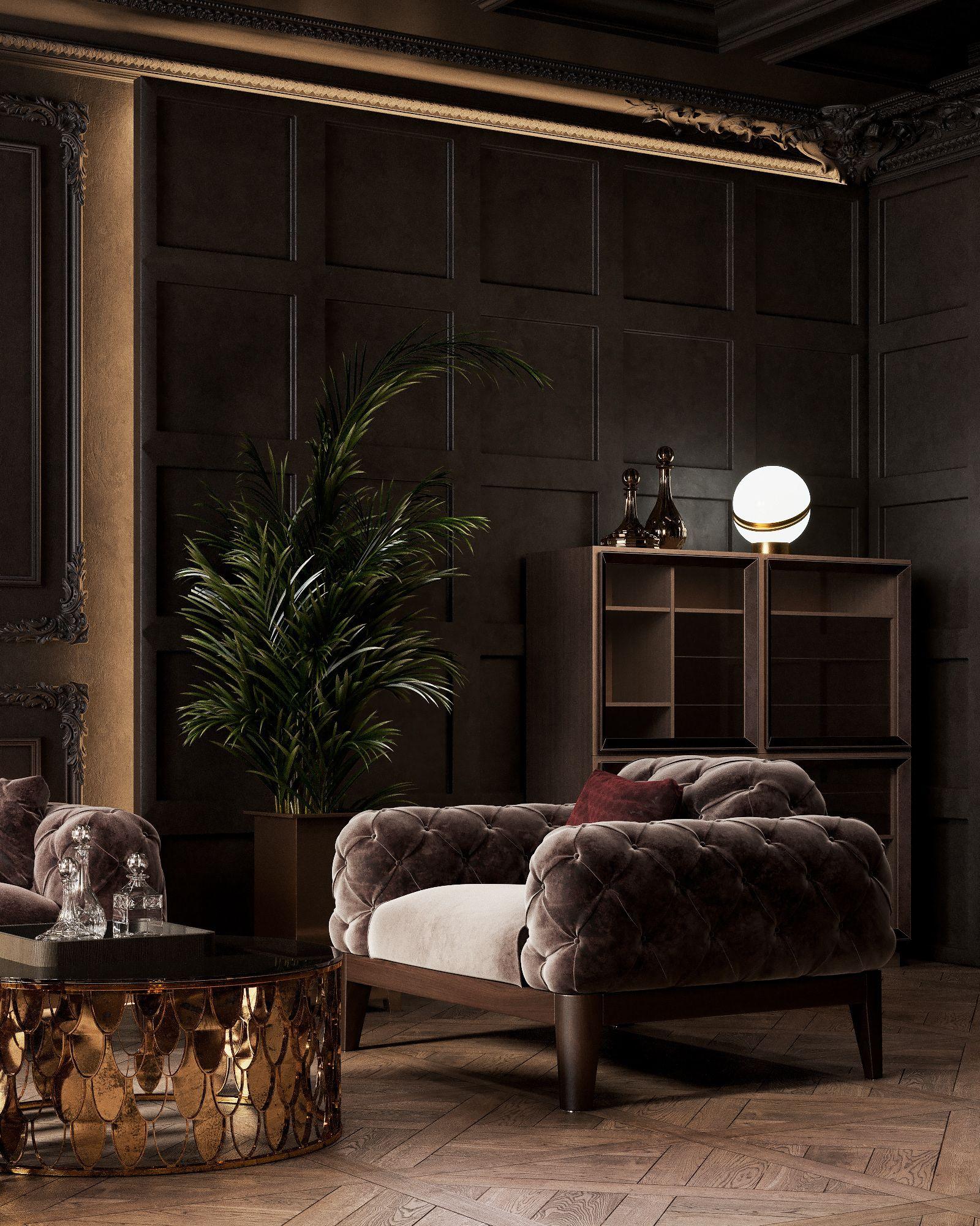 Classic Dark Apartment On Behance